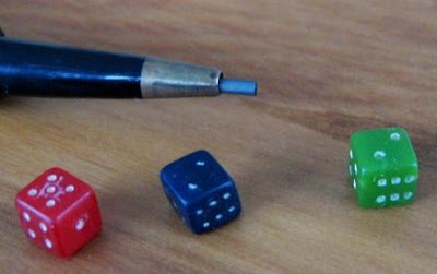 pencil dice in play