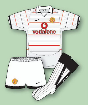 8f779ca5a Manchester United Football Shirt History  Manchester United Kit 2003 ...