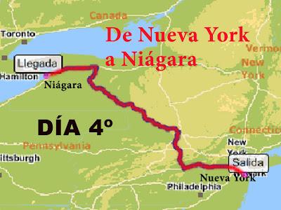 Canada Cataratas Del Niagara Mapa.Nueva York Y Triangulo Del Este Cuarto Dia Nueva York