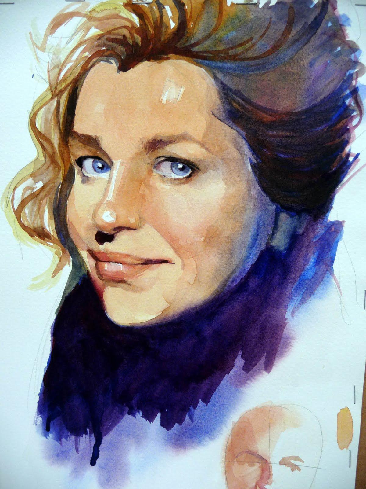 Watercolor portrait project
