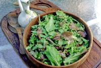misticanza lettuce with parsley dressing