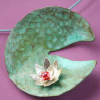 Monets Waterlily Necklace