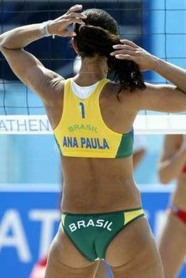 Brazilian beach volleyball ass