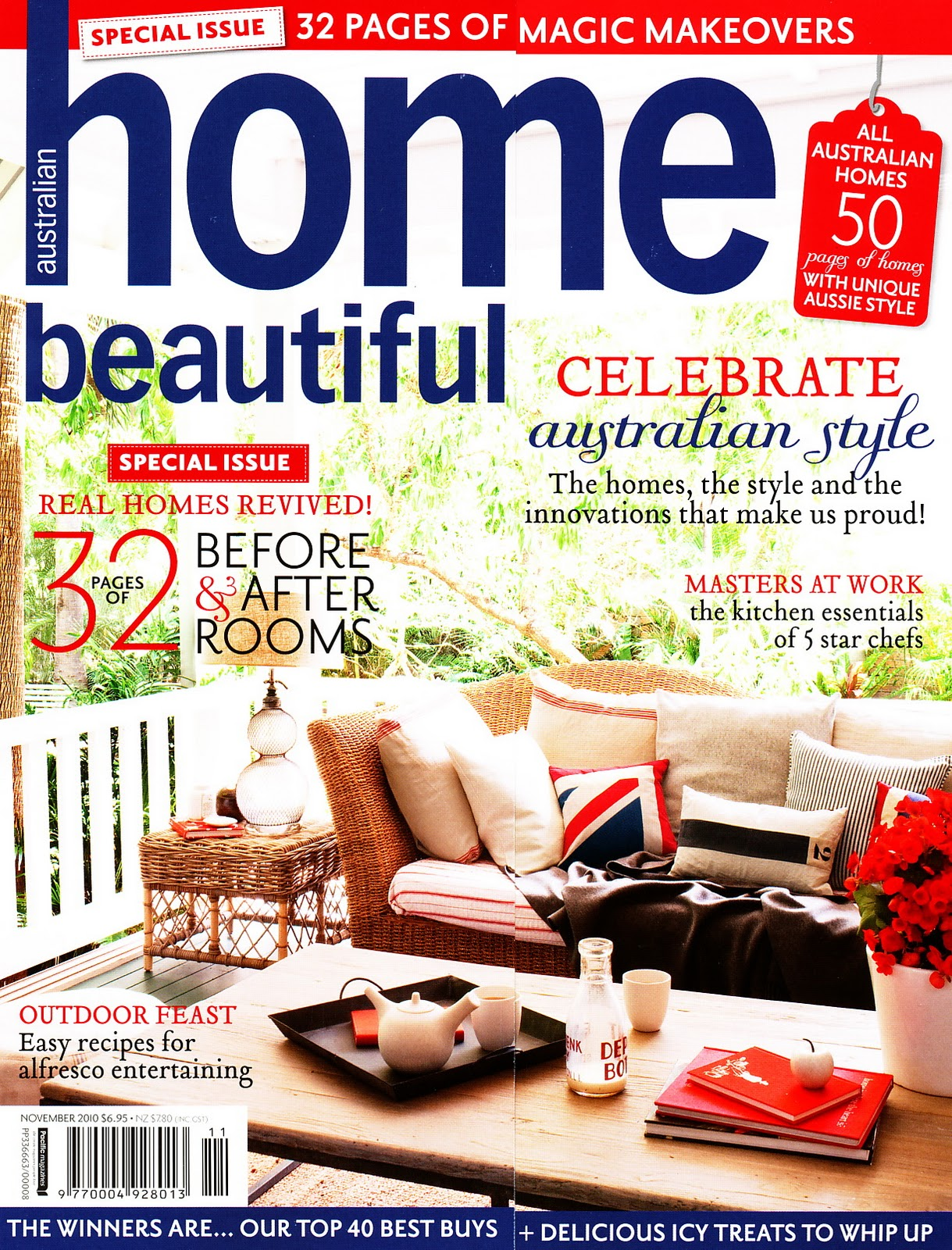 There are a myriad of decorating ideas for your home in House Beautiful magazine. There are tips from designers, makeovers, organizing ideas, cleaning tips, and color scheme ideas that you will love in each issue of your subscription.