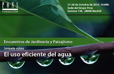 Encuentros de Jardineria y Paisajismo. Jornada sobre el uso eficiente del Agua.