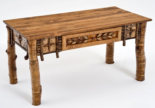 Birch Bark Coffee Table