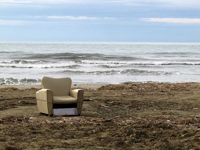 Armchair on a beach, Calambrone