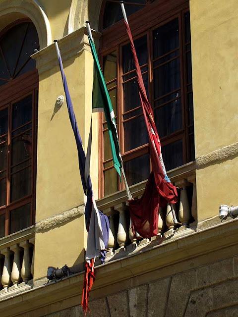 Around the Goldoni theater, Livorno