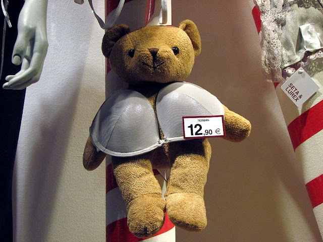 Teddy bear with a bra, Livorno