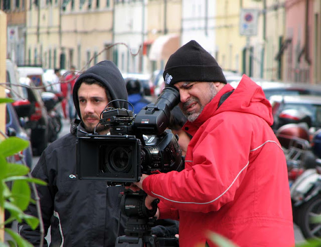 Filming in Livorno