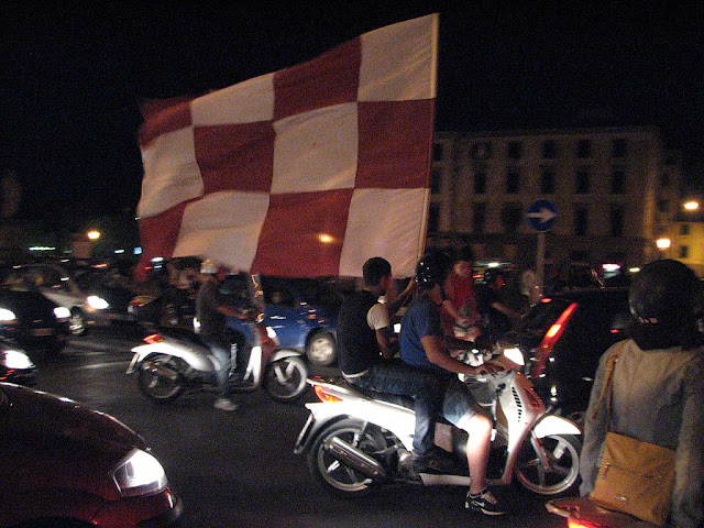Celebrations for AS Livorno in First Division, Serie A