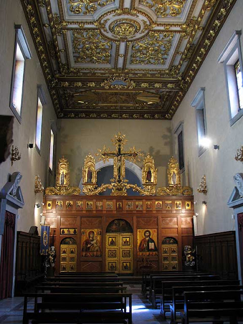 Inside the United Greeks' church, Livorno