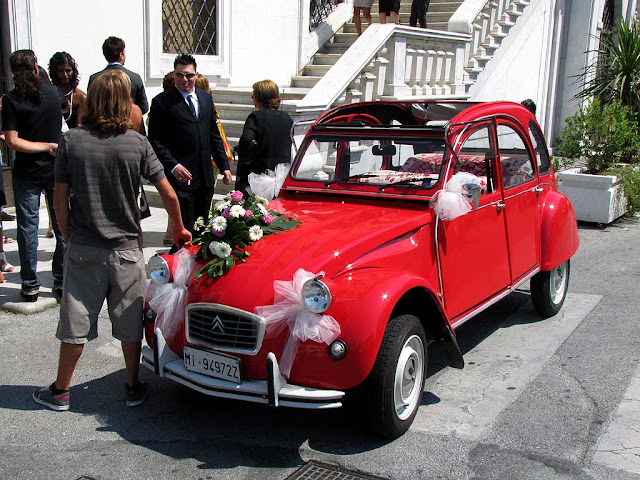 Citroën 2CV, wedding car, Livorno