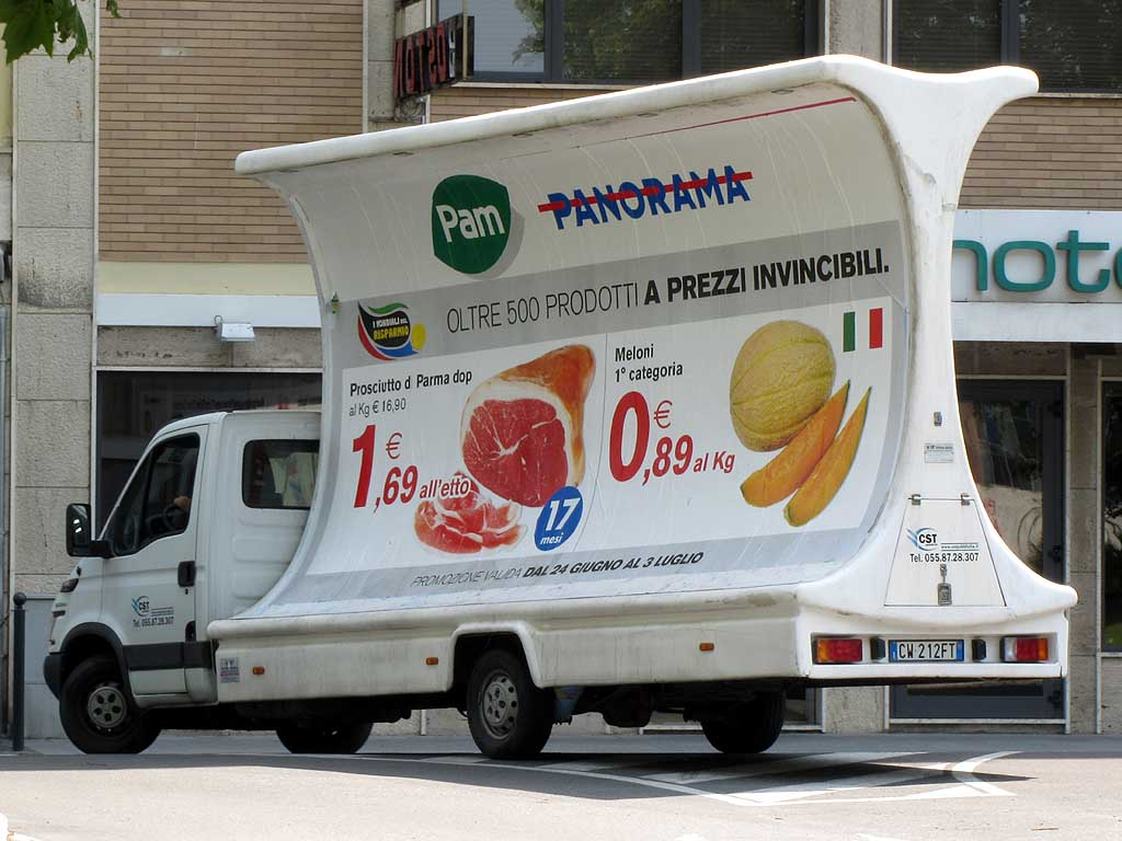 Billboard on a truck, Livorno