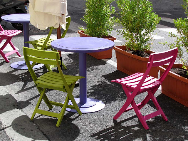 Chairs and tables, Livorno