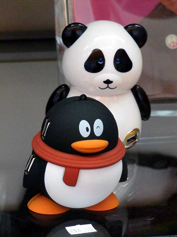 Panda and penguin, Livorno