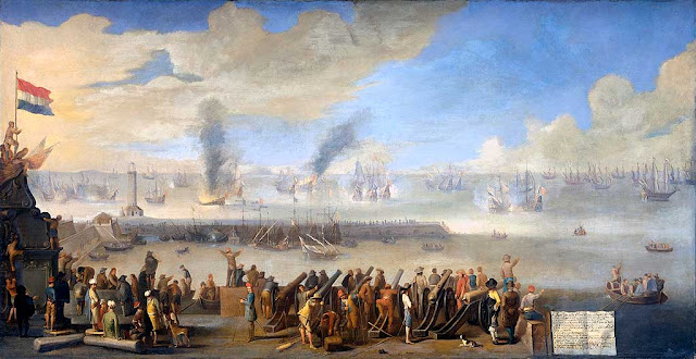The Battle of Livorno (Leghorn) by Johannes Lingelbach, 1660