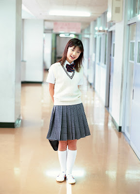 Japanese high school girl black pantyhose - 5 7