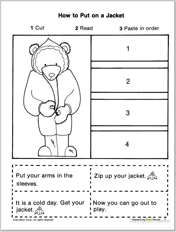 Kindergarten Sequence Worksheets Davezan – Sequencing Worksheet for Kindergarten