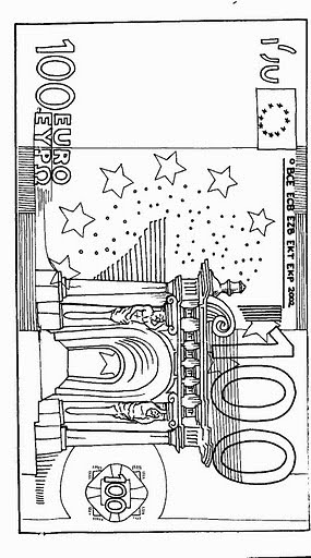 currency coloring pages french euro - photo#7