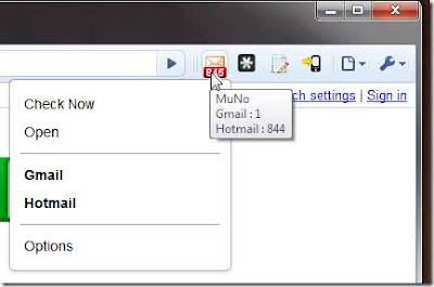 MuNO el WebMail Notifier para Gooogle Chrome