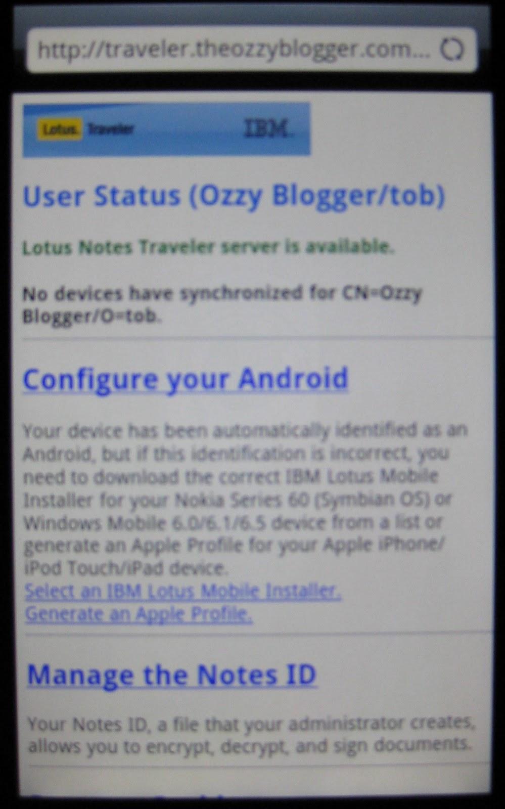 Lotus notes traveler android download free.
