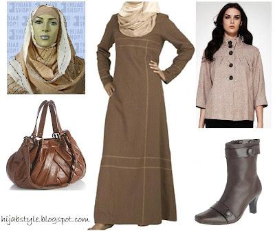 أزياء محجبات 2021 , موضة محجبات 2021 , جباأحدث حجاب 2021 , ملابس محجبات , صور ملابس محت , أناقة محجبات 2021 brown-abaya.jpg