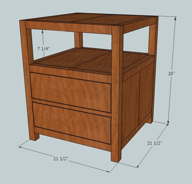 Wood End Table Plans