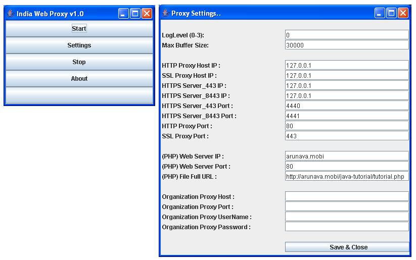 Indian proxy free list
