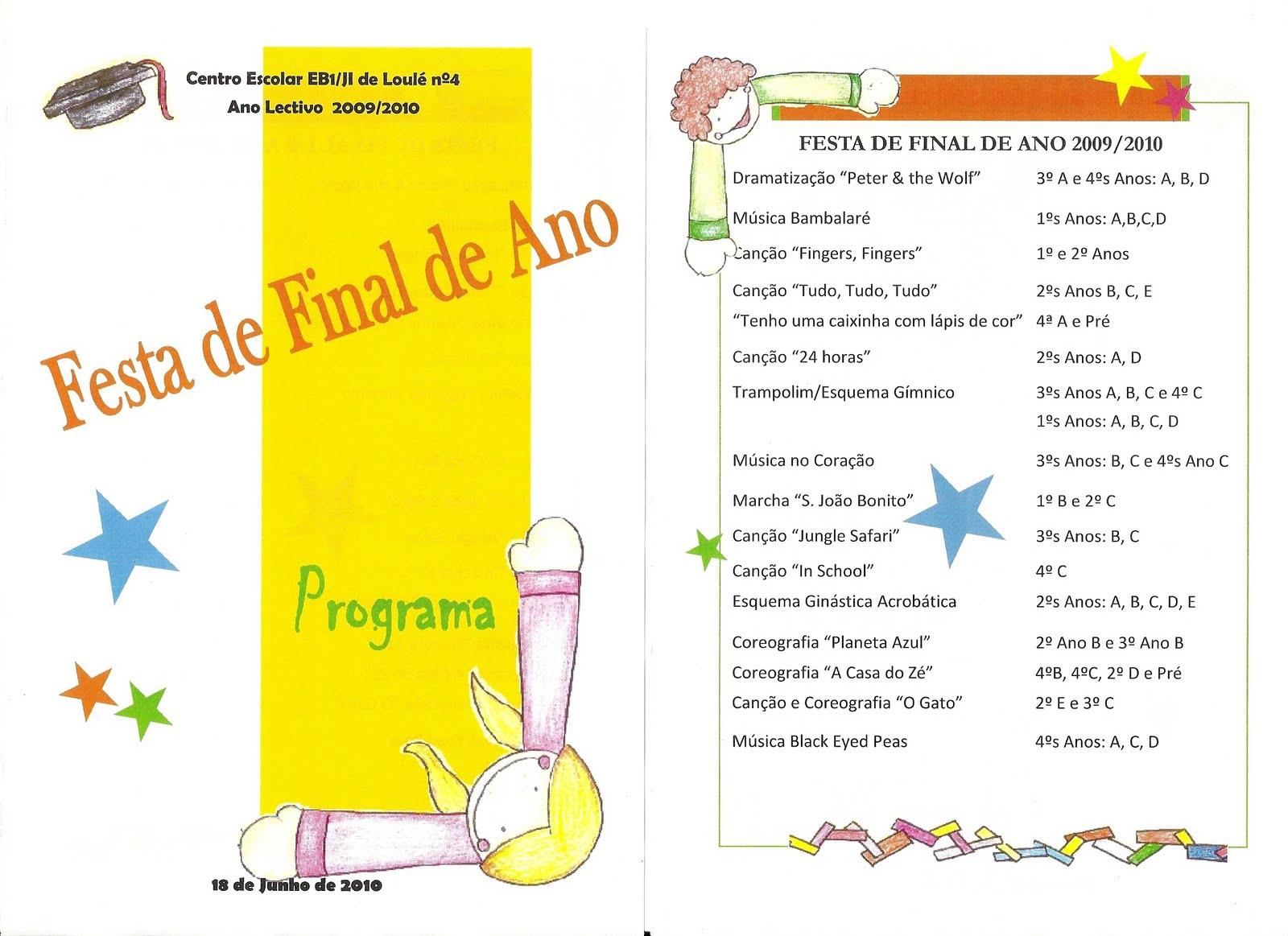 Mensagem De Final De Ano Escolar: E.B.1 Nº4 Loulé: Festa De Final De