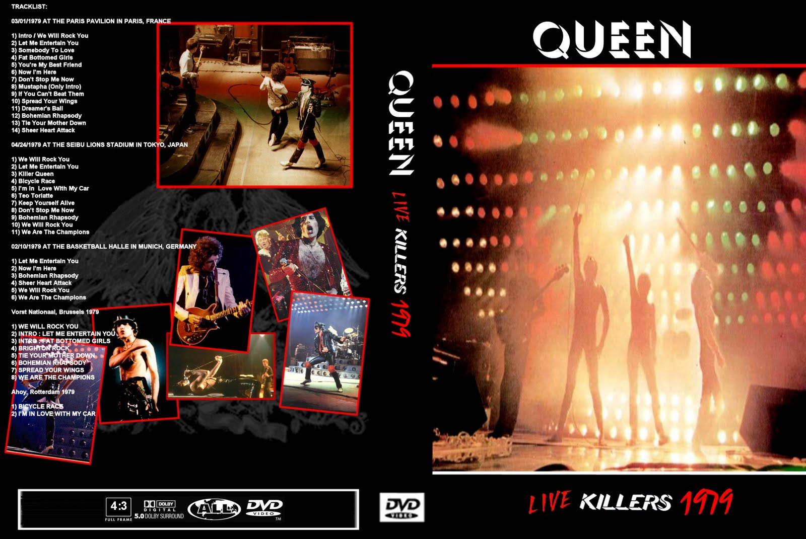 Queen music download : Queen Live Killers Tour Dvd By T U B E