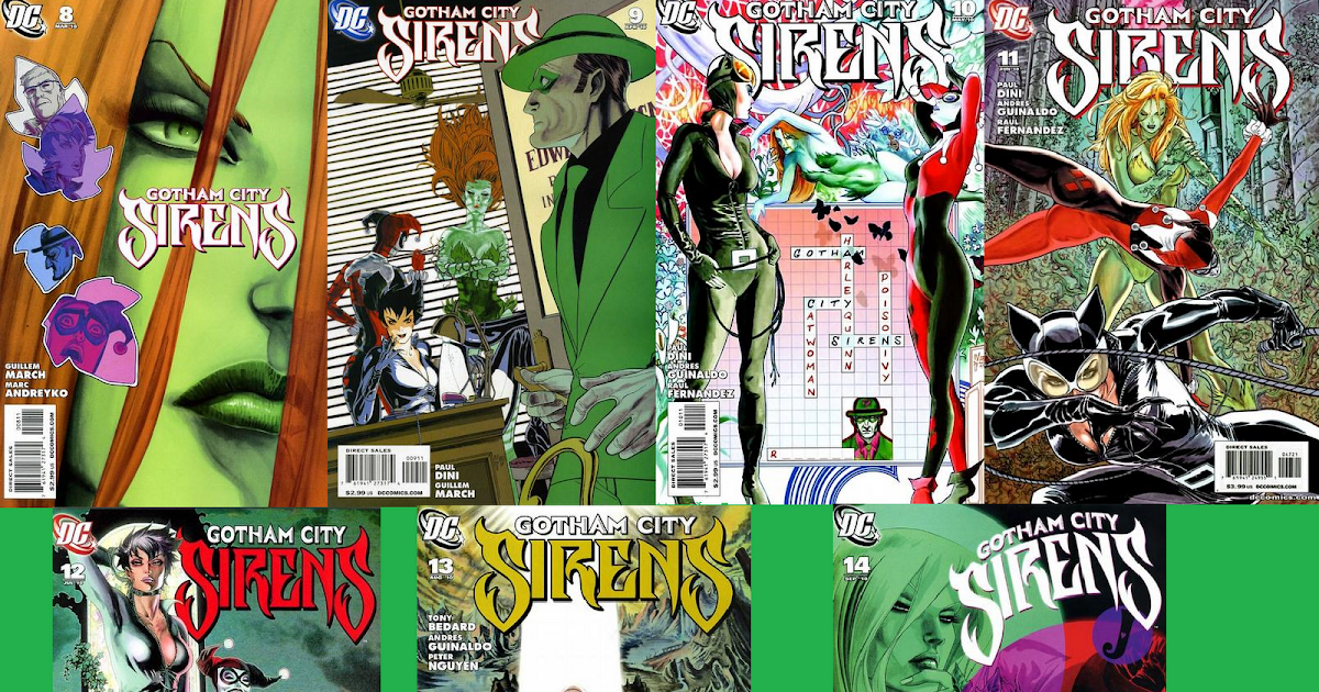 Allyson's Attic: GOTHAM CITY SIRENS : SONG OF THE SIRENS ISSUES 8 9