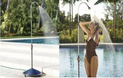 Sun-Heated Solar Outdoor Shower