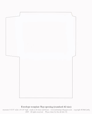 Mel Stampz New Envelope templates (Standard A2 size) Two styles O)