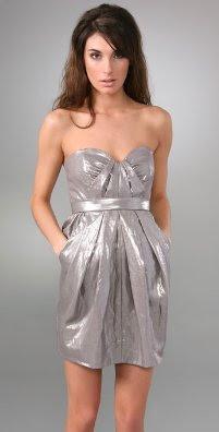 d0a9742d9a3b Foley + Corrina strapless metallic linen cocktail dress; this and next  three at shopbop.com.