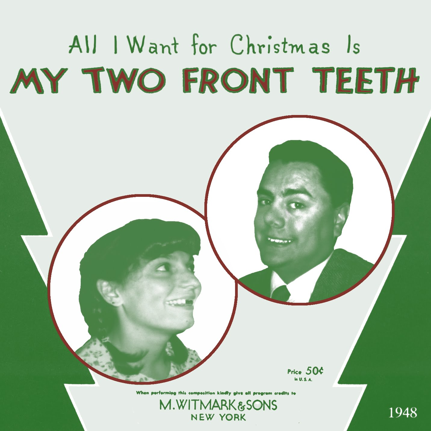 Two Front Teeth Christmas Card