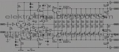 2000 watts power amplifier schematic diagram 6 pin trailer harness wiring rangkaian sound system watt koleksi skema rangkian