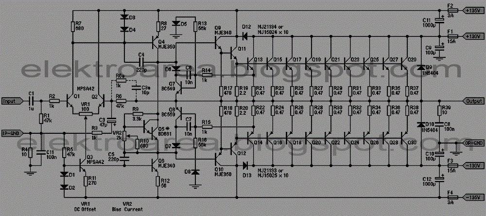 Rangkaian Power Amplifier Sound System 2000 Watt |Koleksi