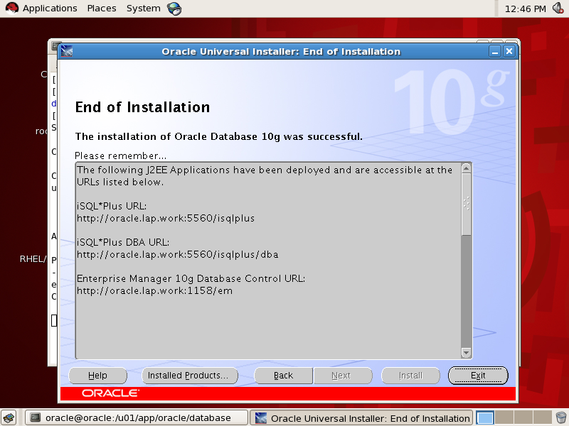 System Admin logs: How to install and configure oracle 10g