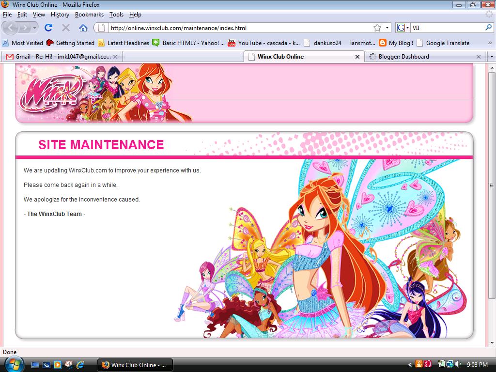 New Winx Club Website   Winx and Bakugan and Pokemon Oh my!