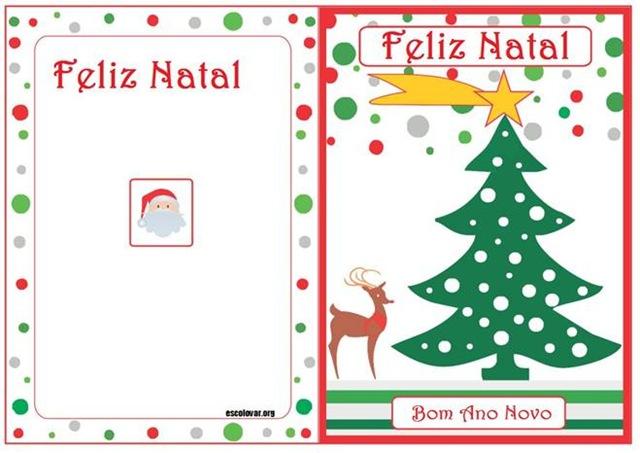 Facilidade Cartoes De Natal Para Imprimir