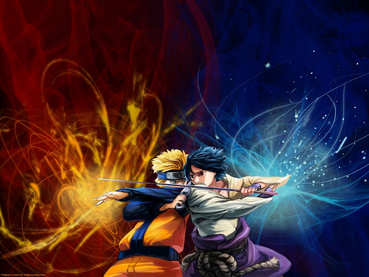 WallpapersKu: Naruto vs Sasuke Wallpapers