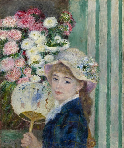 Renoir-Muchacha-con-abanico-Coleccion-Sterling-and-Francine-Clark-Art-Institute