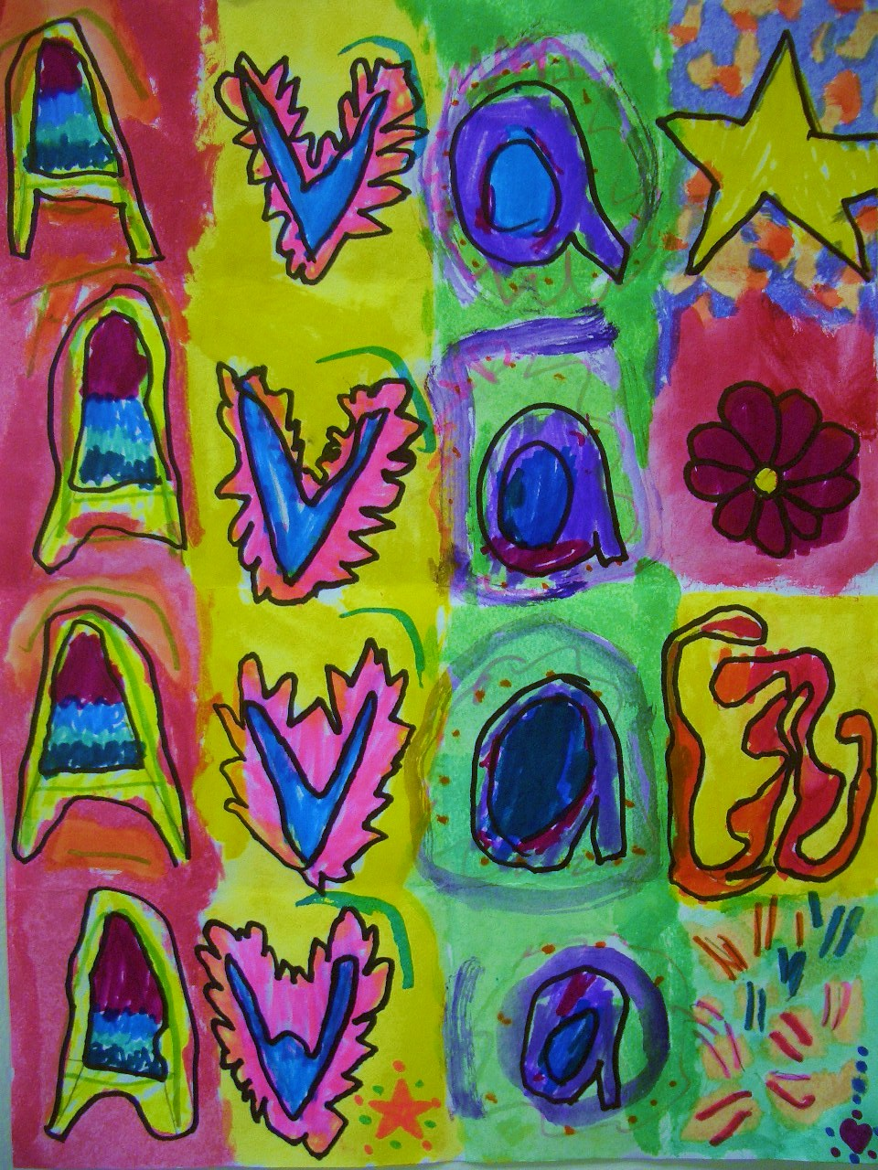 DREAM DRAW CREATE: Name Patterns Inspired by Jasper Johns