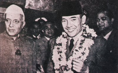 Soekarno and Nehru