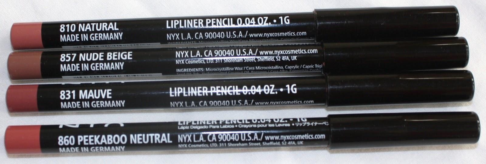 Miss Prissypants: NYX Slim Lip Pencils: Swatches