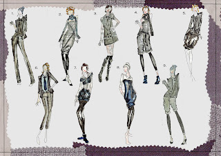 Alex Fannon Freelance Fashion Designer Maxmara Competition Design Development Boards
