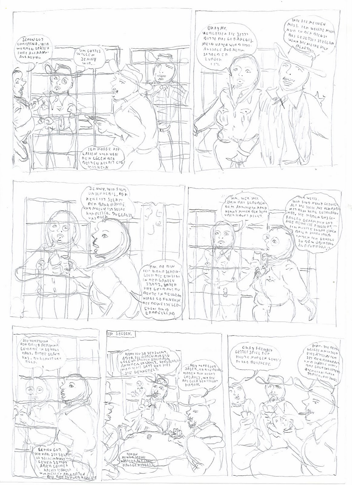 Wild West bondage comics: Bank robbery tale II