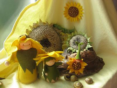 Antroposofische seizoentafel zomer zonnebloemen
