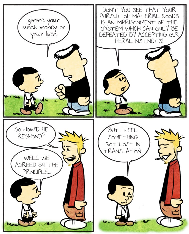 calvin and hobbes fight club essay Fight club is not a perfect of hobbes but it does help illustrate the concept of  an essay comparing calvin & hobbes to fight club:  more political theory wiki.